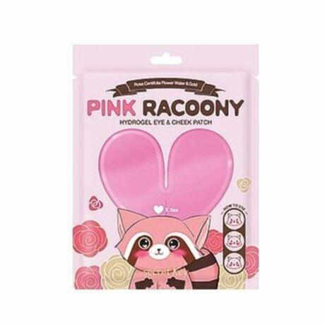 SECRET KEY Pink Racoony hidratáló és feszesítő arc- és szemkörnyékápoló hidrogél tapasz rózsa kivonattal 6db